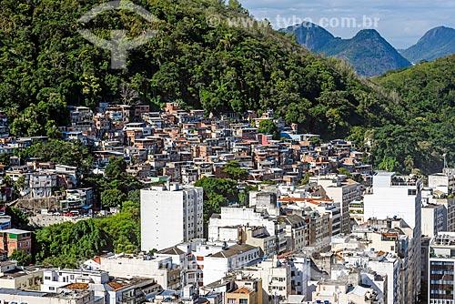Vista do Morro Chapéu Mangueira a partir do antigo Hotel Le Meridien - atual Hotel Windsor Atlântico  - Rio de Janeiro - Rio de Janeiro (RJ) - Brasil