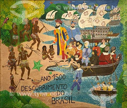 Quadro Brasil 05 Séculos - 1º episódio, Ano 1500 Descobrimento do Brasil. 1,40 x 1,58 de Aparecida Azedo  - Rio de Janeiro - Rio de Janeiro (RJ) - Brasil