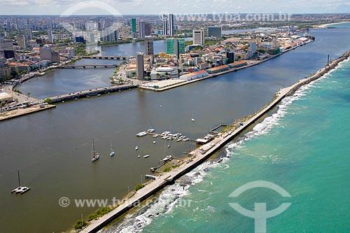 Foto aérea do Pernambuco Iate Clube (PIC)  - Recife - Pernambuco (PE) - Brasil