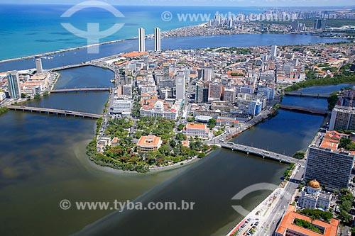 Foto aérea do Palácio do Campo das Princesas (1841) - sede do Governo do Estado  - Recife - Pernambuco (PE) - Brasil