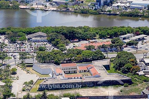 Foto aérea do Forte de São João Batista do Brum (1654)  - Recife - Pernambuco (PE) - Brasil