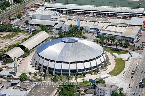 Foto aérea do Ginásio de Esportes Geraldo Magalhães (1970)  - Recife - Pernambuco (PE) - Brasil