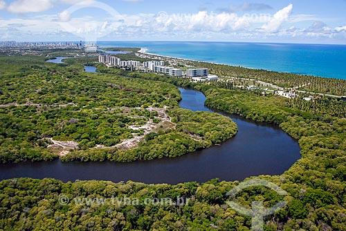Foto aérea do Reserva do Paiva  - Cabo de Santo Agostinho - Pernambuco (PE) - Brasil