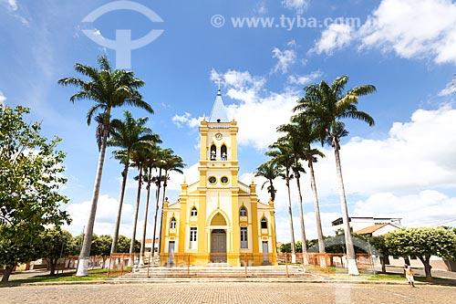 Vista da Igreja Matriz do Divino Espírito Santo a partir da Praça do Coreto  - Guarani - Minas Gerais (MG) - Brasil
