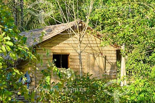 Palhoça (casa feita de palha) - Comunidade Urucureá  - Santarém - Pará (PA) - Brasil