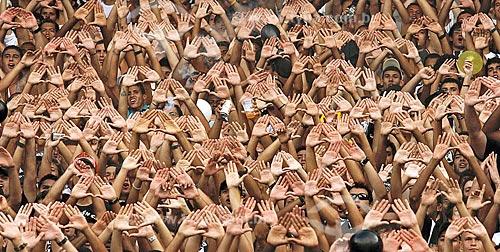 Torcida organizada do Botafogo de Futebol e Regatas no Estádio Jornalista Mário Filho - mais conhecido como Maracanã  - Rio de Janeiro - Rio de Janeiro (RJ) - Brasil