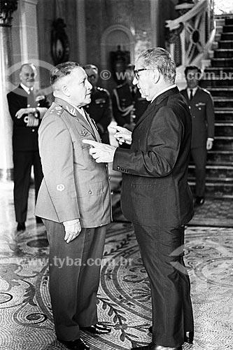 Encontro do General Sizeno Sarmento com o então Presidente do Brasil Costa e Silva no Palácio Laranjeiras  - Rio de Janeiro - Rio de Janeiro (RJ) - Brasil