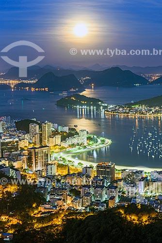 Vista da Enseada de Botafogo a partir do Mirante Dona Marta  - Rio de Janeiro - Rio de Janeiro (RJ) - Brasil