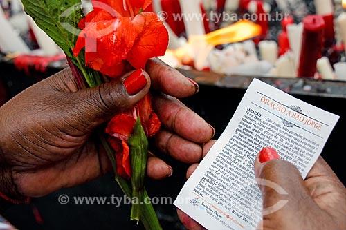 Missa em homenagem ao Dia de São Jorge  - Rio de Janeiro - Rio de Janeiro (RJ) - Brasil