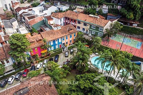 Vista de cima de condomínio residencial de casas  - Rio de Janeiro - Rio de Janeiro (RJ) - Brasil