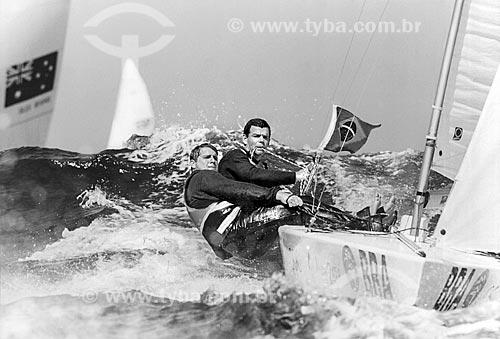 Marcelo Ferreira e Torben Grael durante regata da classe Star nos Jogos Olímpicos - Sydney 2000 - medalhista de bronze  - Sydney - Nova Gales do Sul - Austrália