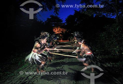 Dança dos índios da Tribo Pataxó durante a conferência RIO + 20  - Rio de Janeiro - Rio de Janeiro (RJ) - Brasil