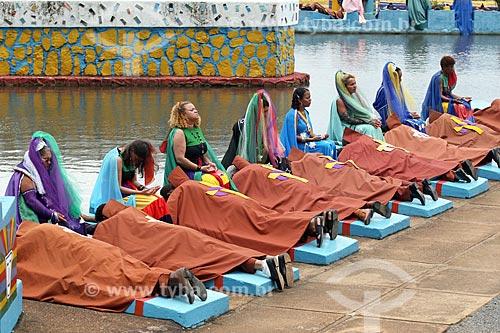 Ritual sob túmulos na Comunidade Religiosa Vale do Amanhecer  - Brasília - Distrito Federal (DF) - Brasil