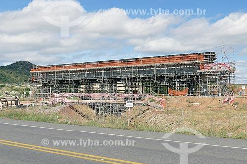Canteiro de obras de ponte em trecho da Rodovia BR-116  - Salgueiro - Pernambuco (PE) - Brasil