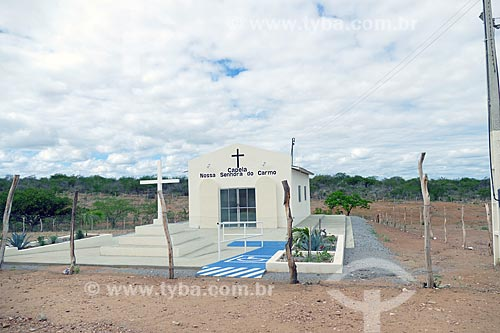 Fachada da Capela de Nossa Senhora do Carmo na zona rural da cidade de Cabrobó  - Cabrobó - Pernambuco (PE) - Brasil