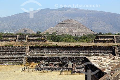 Pirâmide del Sol (Pirâmide do Sol) nas Ruínas de Teotihuacan  - San Juan Teotihuacán - Estado do México - México