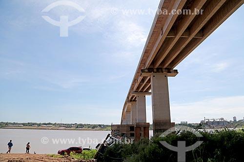 Vista do Rio Madeira sob a Ponte Rondon-Roosevelt  - Porto Velho - Rondônia (RO) - Brasil