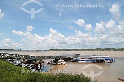 Vista do Terminal Hidroviário de Cai NÁgua  - Porto Velho - Rondônia (RO) - Brasil