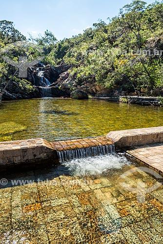 Piscina natural no Rio Parauninha  - Santana do Riacho - Minas Gerais (MG) - Brasil