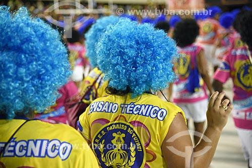 Ensaio técnico para o desfile do Grêmio Recreativo Escola de Samba Paraíso do Tuiuti no Sambódromo da Marquês de Sapucaí  - Rio de Janeiro - Rio de Janeiro (RJ) - Brasil