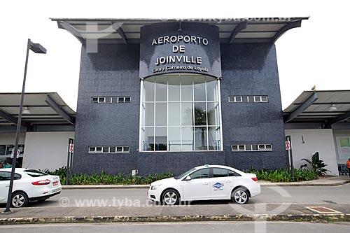 Fachada do Aeroporto de Joinville - Lauro Carneiro de Loyola  - Joinville - Santa Catarina (SC) - Brasil