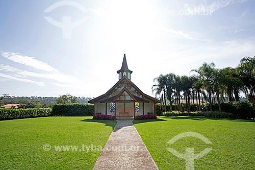 Capela em estilo enxaimel - Jardim dos Hemerocallis na Agrícola da Ilha  - Joinville - Santa Catarina (SC) - Brasil