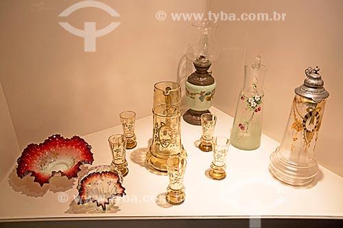 Utensílios de vidro em exibição no Museu Nacional de Imigração e Colonização (1870)  - Joinville - Santa Catarina (SC) - Brasil