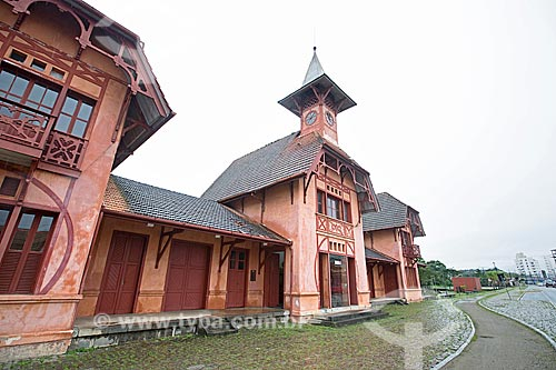 Fachada do Estação Museu da Memória - antiga Estação Ferroviária de Joinville  - Joinville - Santa Catarina (SC) - Brasil
