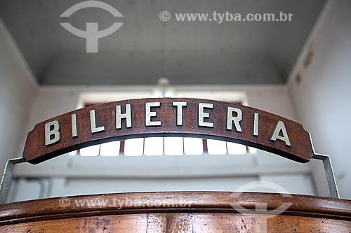 Detalhe de bilheteria no interior da Estação Museu da Memória - antiga Estação Ferroviária de Joinville  - Joinville - Santa Catarina (SC) - Brasil