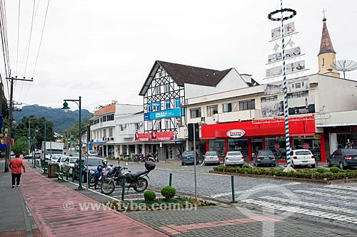 Vista da Rua Paulo Zimmermann  - Pomerode - Santa Catarina (SC) - Brasil
