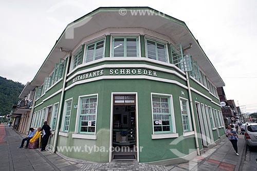 Fachada do Restaurante Schroeder  - Pomerode - Santa Catarina (SC) - Brasil
