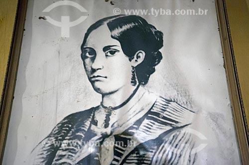 Gravura de Anita Garibaldi - Reprodução do acervo da Casa de Anita Garibaldi  - Laguna - Santa Catarina (SC) - Brasil