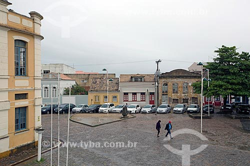 Vista da Praça República Juliana a partir do Museu Anita Garibaldi  - Laguna - Santa Catarina (SC) - Brasil