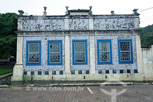 Fachada da Casa Pinto Dulysséa (1866) - hoje abriga a Fundação Lagunense de Cultura  - Laguna - Santa Catarina (SC) - Brasil