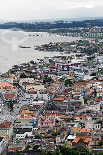 Vista de cima da cidade de Laguna a partir do Morro da Glória  - Laguna - Santa Catarina (SC) - Brasil