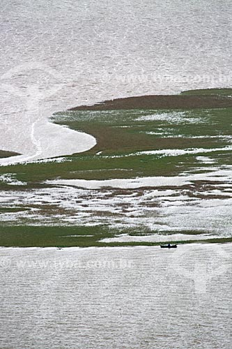 Vista de cima da Lagoa de Imaruí a partir do Morro da Glória  - Laguna - Santa Catarina (SC) - Brasil