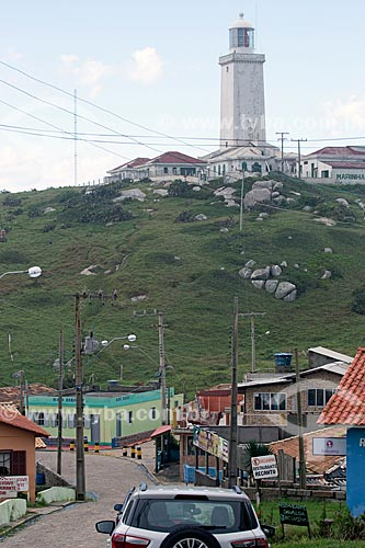 Vista do Farol de Santa Marta a partir da Vila do Farol de Santa Marta  - Laguna - Santa Catarina (SC) - Brasil