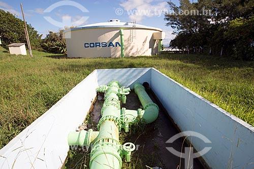 Caixa dágua da Companhia Riograndense Saneamento (CORSAN) - concessionária de serviços de tratamento de água - no Morro do Farol  - Torres - Rio Grande do Sul (RS) - Brasil