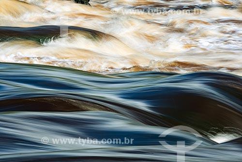 Detalhe do leito do Rio Iratapuru na Reserva de Desenvolvimento Sustentável do Iratapuru  - Laranjal do Jari - Amapá (AP) - Brasil