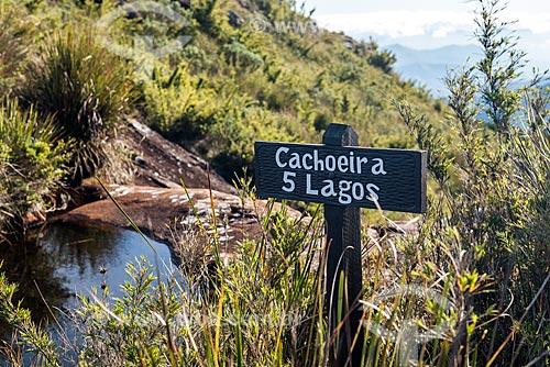 Cachoeira Cinco Lagos no Parque Nacional de Itatiaia  - Itatiaia - Rio de Janeiro (RJ) - Brasil