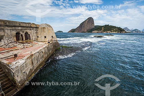 Vista do Pão de Açúcar a partir do Forte Tamandaré da Laje (1555)  - Rio de Janeiro - Rio de Janeiro (RJ) - Brasil