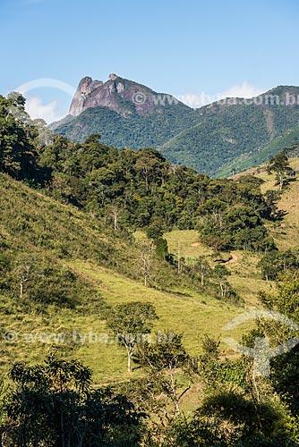 Vista do pico da pedra selada a partir do distrito de Visconde de Mauá  - Resende - Rio de Janeiro (RJ) - Brasil