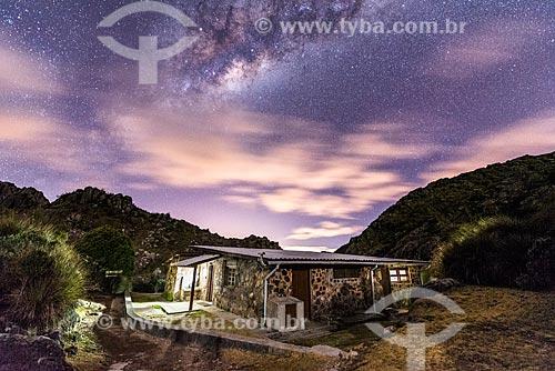 Vista do céu estrelado no Abrigo Rebouças - Parque Nacional de Itatiaia  - Itatiaia - Rio de Janeiro (RJ) - Brasil