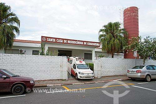 Fachada da Santa Casa de Misericórdia de Guararema  - Guararema - São Paulo (SP) - Brasil