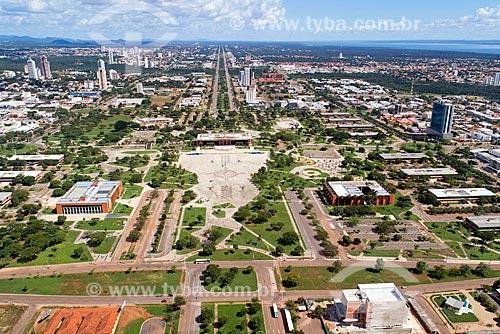 Foto aérea da Praça dos Girassóis  - Palmas - Tocantins (TO) - Brasil