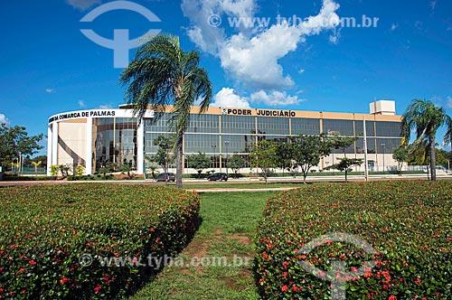 Fachada do Fórum de Palmas  - Palmas - Tocantins (TO) - Brasil