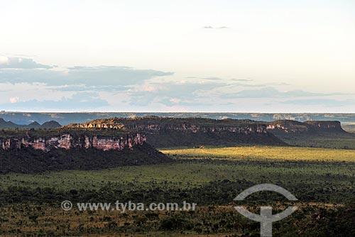 Vista do Chapadões das Serras Gerais - também conhecido como Chapada da Garganta  - Dianópolis - Tocantins (TO) - Brasil