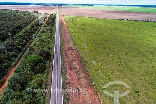 Foto aérea de trecho da Rodovia TO-336  - Guaraí - Tocantins (TO) - Brasil