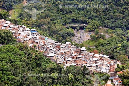 Vista da Favela do Cerro Corá com o Túnel Rebouças ao fundo  - Rio de Janeiro - Rio de Janeiro (RJ) - Brasil