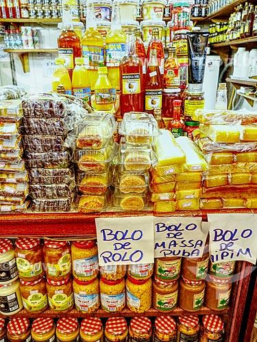 Detalhe de doces à venda no Centro Luiz Gonzaga de Tradições Nordestinas  - Rio de Janeiro - Rio de Janeiro (RJ) - Brasil